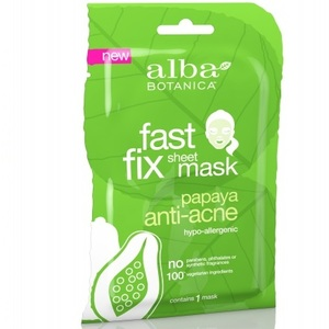Alba Botanica Очищающая маска папайя Fast Fix Papaya Anti-Acne Sheet Mask 15г