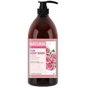 Naturia Гель для душа роза/розмарин Pure body wash Rose & Rosemary 750мл