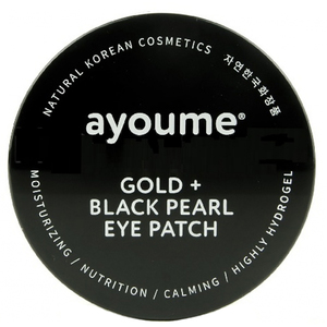 Ayoume Gold and Black Pearl Eye Patch